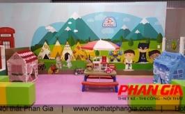 Quy trình thi công khu vui chơi trẻ em – Phan Gia đang lắp đặt tại Bình Dương
