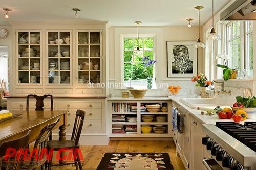 Cách bố trí nội thất nhà bếp với nhiều đồ gia dụng