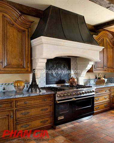 Thiết kế phòng bếp mang nét cổ điển