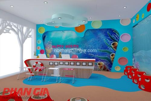 Thiết kế nội thất phòng làm việc trường mầm non