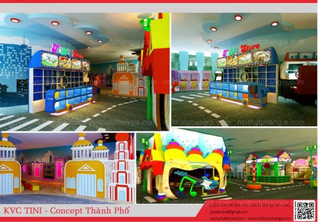 Chọn mức đầu tư cho khu vui chơi trẻ em
