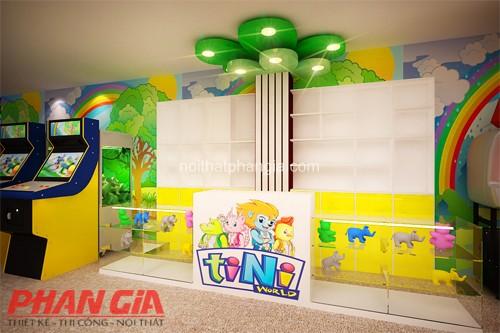 Thiết kế khu vực chơi game dành cho trẻ nhỏ