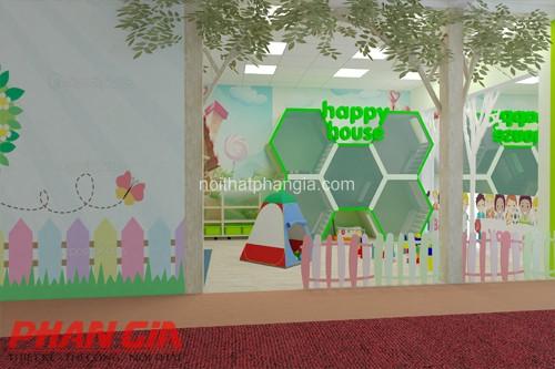 Thiết kế khu vui chơi trẻ em trong trường mầm non