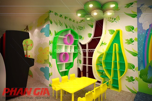 Thiết kế nội thất khu vui chơi trẻ em trong nhà