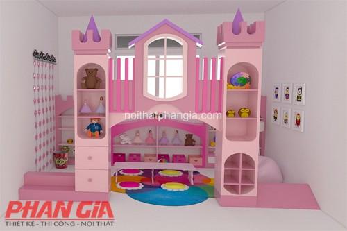 Trang trí nội thất phòng vui chơi cho bé gái