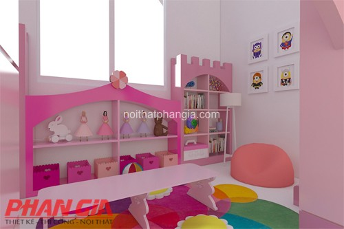 Thiết kế nội thất khu vui chơi cho bé gái