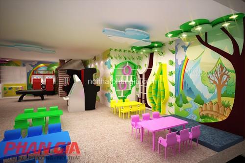 Thiết kế khu vui chơi trẻ em phòng sân khấu