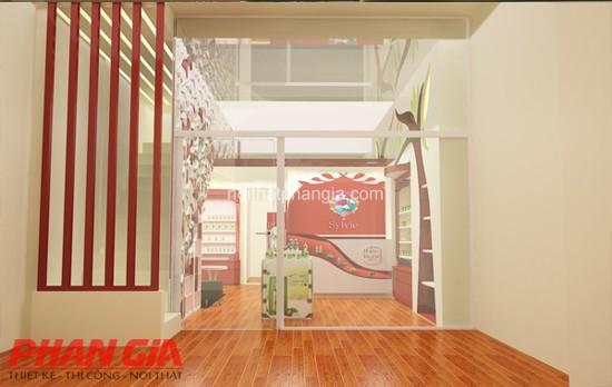 Thiết kế nội thất shop mỹ phẩm Thiên Kì Vĩ