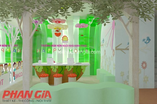 Thiết kế nội thất trường Happy House