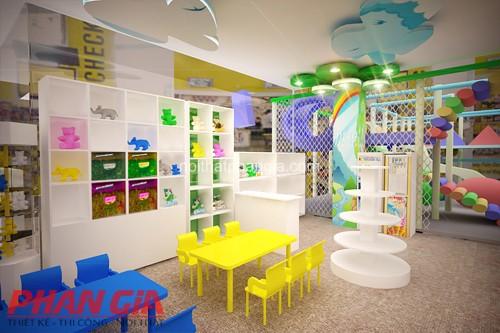 Thiết kế nội thất khu vui chơi với phòng tô tượng