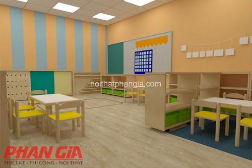 Thiết kế phòng học trường mầm non happy house