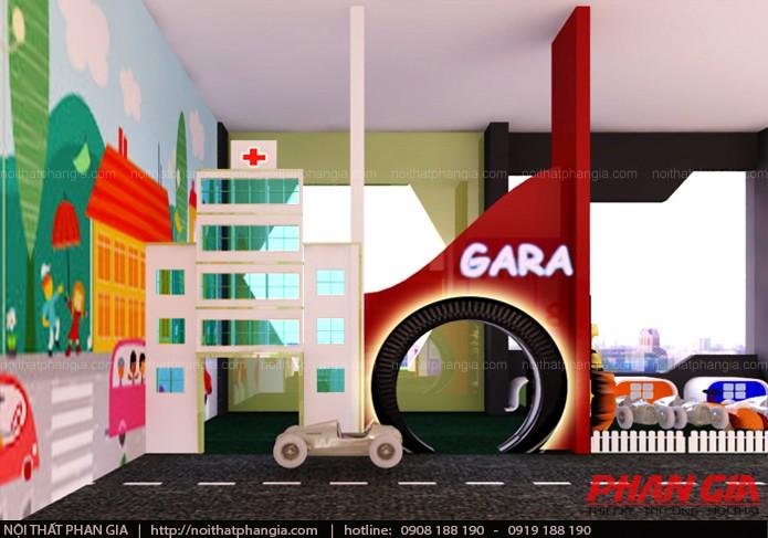 Thiết kế khu hướng nghiệp với gara sửa xe