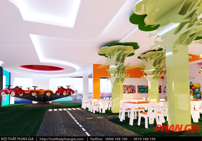 Khu ăn uống trong thiết kế khu vui chơi trẻ em 400m2
