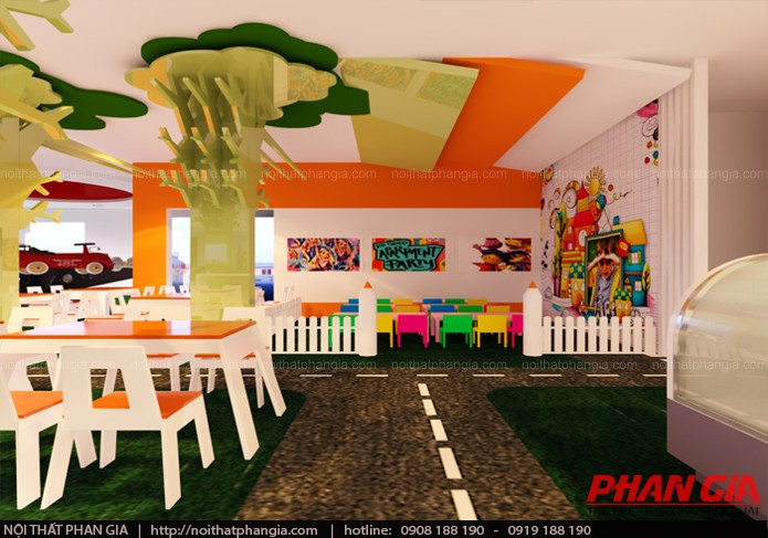 Thiết kế nội thất khu vui chơi 400m2 trong khu chung cư