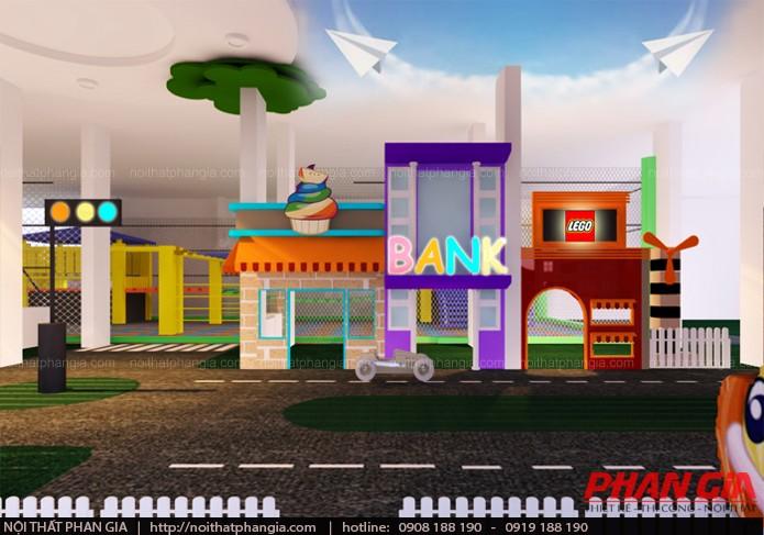Thiết kế khu hướng nghiệp ngân hàng trong khu vui chơi