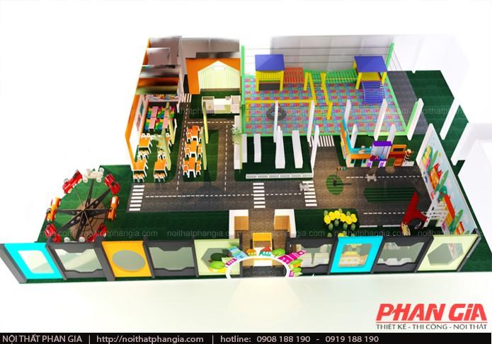 Thiết kế thi công khu vui choi trẻ em 400m2 trong khu chung cư
