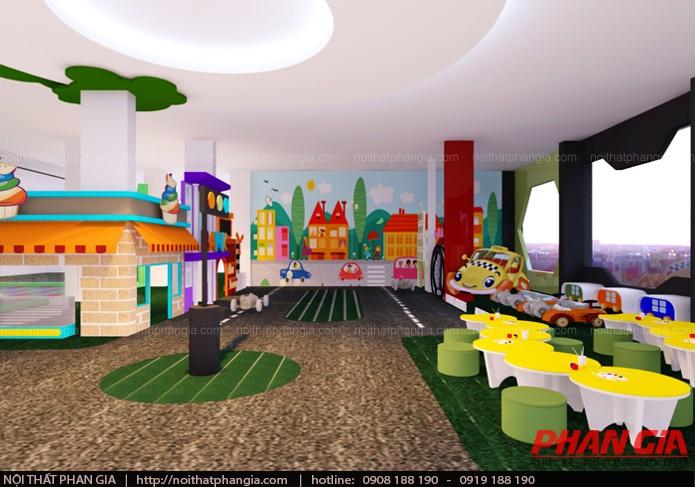 Thiết kế thi công nội thất khu vui chơi trẻ em 400m2