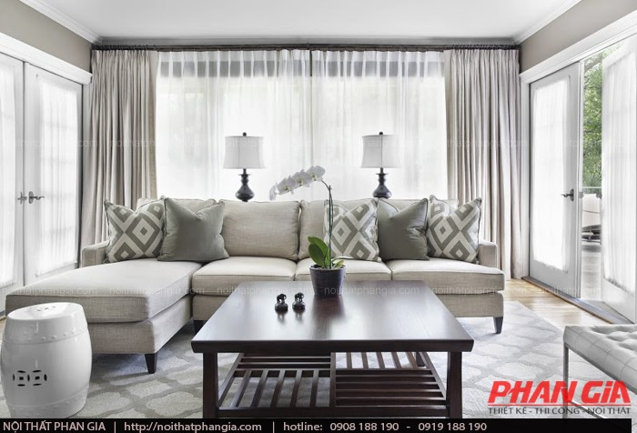 Thiết kế nội thất phòng khách cho gia chủ yêu sự đơn giản