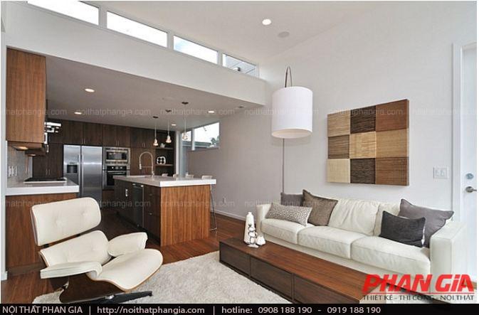 Thiết kế nội thất phòng khách với mối liên kết chặt chẽ
