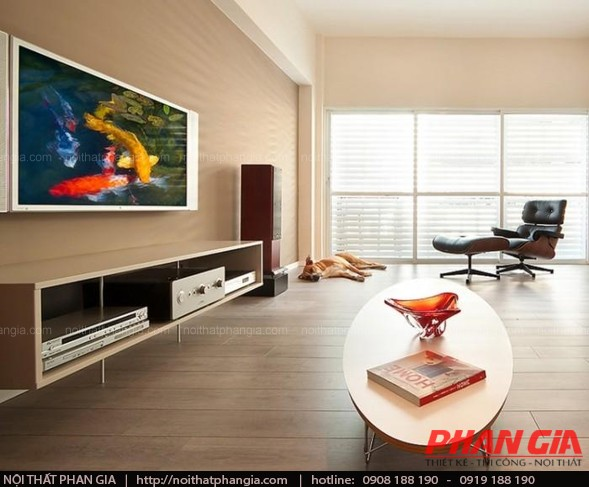 Thiết kế nội thất phòng khách đơn giản cho người bận rộn