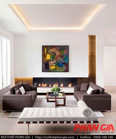 Thiết kế nội thất phòng khách phong cách lịch lãm sang trọng