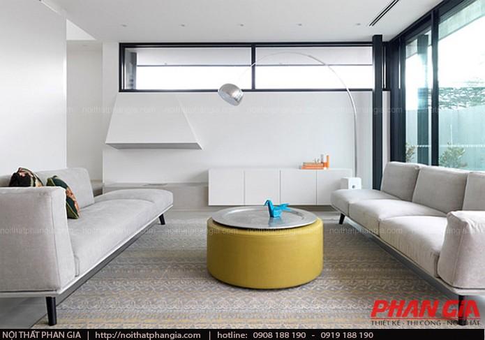 Thiết kế nội thất phòng khách độc và lạ