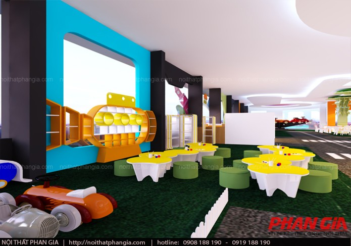 Thiết kế nội thất phòng tô tượng khu vui chơi trẻ em
