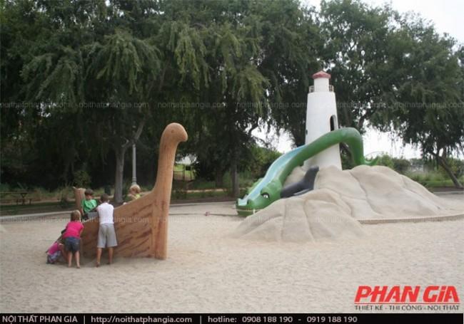 Công viên động vật dành cho trẻ em vui chơi